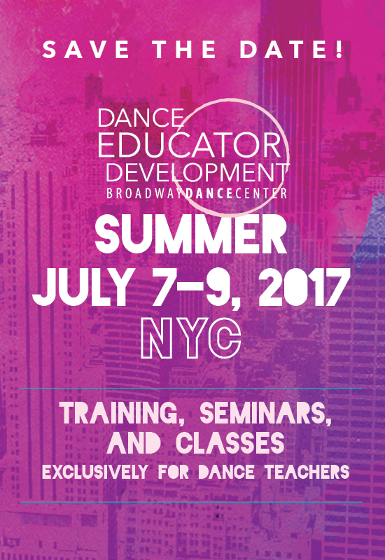 Dance Educator Development   Summer 2017
